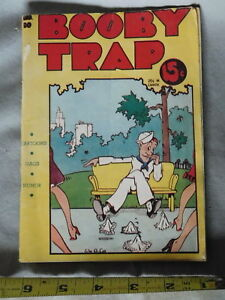 Booby Trap Pamphlet Post Ww Ii 1946 Book Comedy Humor Jokes Satire