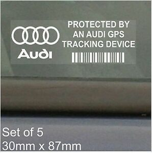 X Audi GPS Tracking Device Security Stickers A A A A Q Car - Audi car tracker