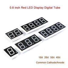08 Inch Red 7 Segment Led Display Digital Tube Common Cathodeanode 1234bit