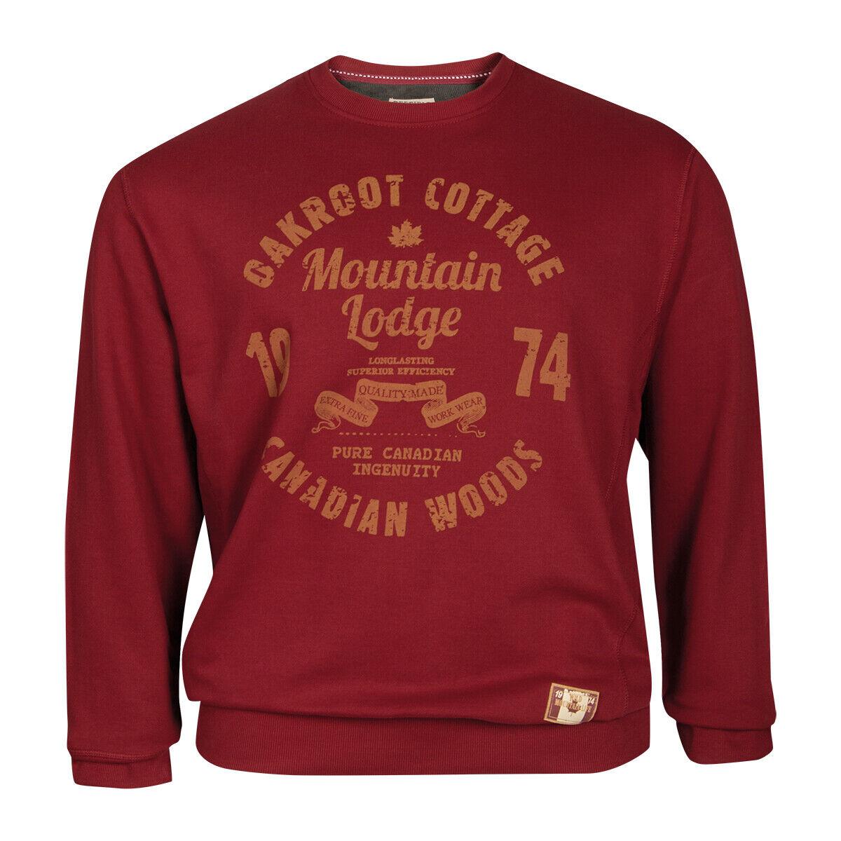rotfield Übergrößen Vintage Sweatshirt dunkelrot