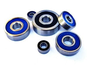 600 - 699 2rs STAINLESS STEEL RUBBER SEALED MINIATURE METRIC BEARINGS FULL RANGE