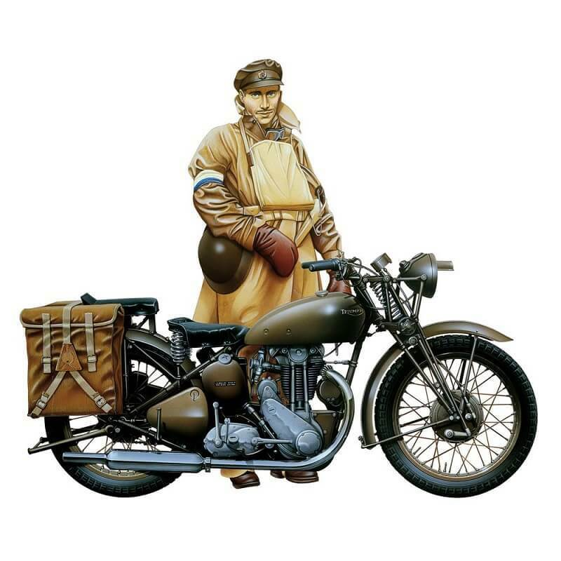 Italienari 1  9 Triumph Motorcycle Plastic modellllerler Kit 7402 ITA7402