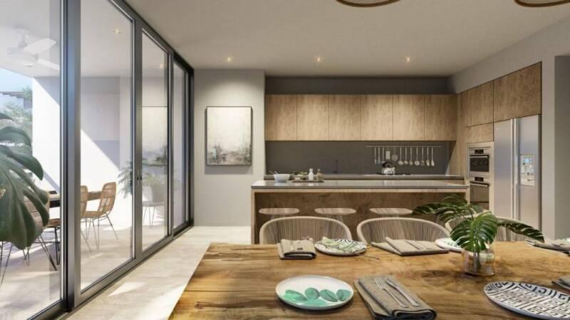 Penthouse, Proyecto sustentable ecochic en buen zona de Tulum P2429