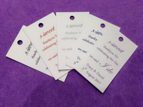 Christening A Sweet Thank you 25 x Personalised Wedding Favour Tags