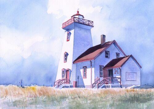 Wood Islands Lighthouse Canada Prince Edward Island James Mann Art Prints