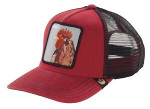 Goorin Bros Animal Farm Snapback Trucker Hat Cap Red Plucker Pecker ... f8309730677
