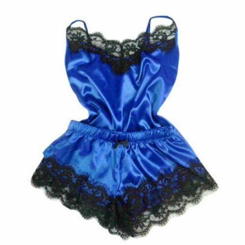 US Women Silk Satin Pajamas Set Sleepwear Shorts Babydoll Nightwear Lingerie