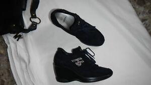 new concept 12845 f78b0 Dettagli su HORNET scarpe donna zeppe n 35 blu scamosciate retail 185 euro