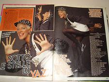 YAZZ Yasmine Evans Singer clipping ritaglio articolo foto fotografia 1989