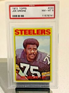 1972-Topps-Football-034-MEAN-JOE-034-Greene-75-NFL-Steelers-230-PSA-graded