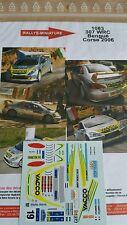 Decals 1/43 réf 1083 Peugeot 307 wrc Bengue Tour de Corse 2006