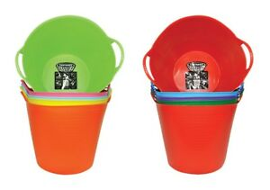 2 PACK - Tubtrugs 6.9 gallon Flexible Plastic Tub handled tote basket PICK COLOR
