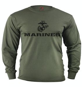 T-shirt à manches longues pour hommes US Navy T-shirt USN tee shirt manches Design Bleu Marine