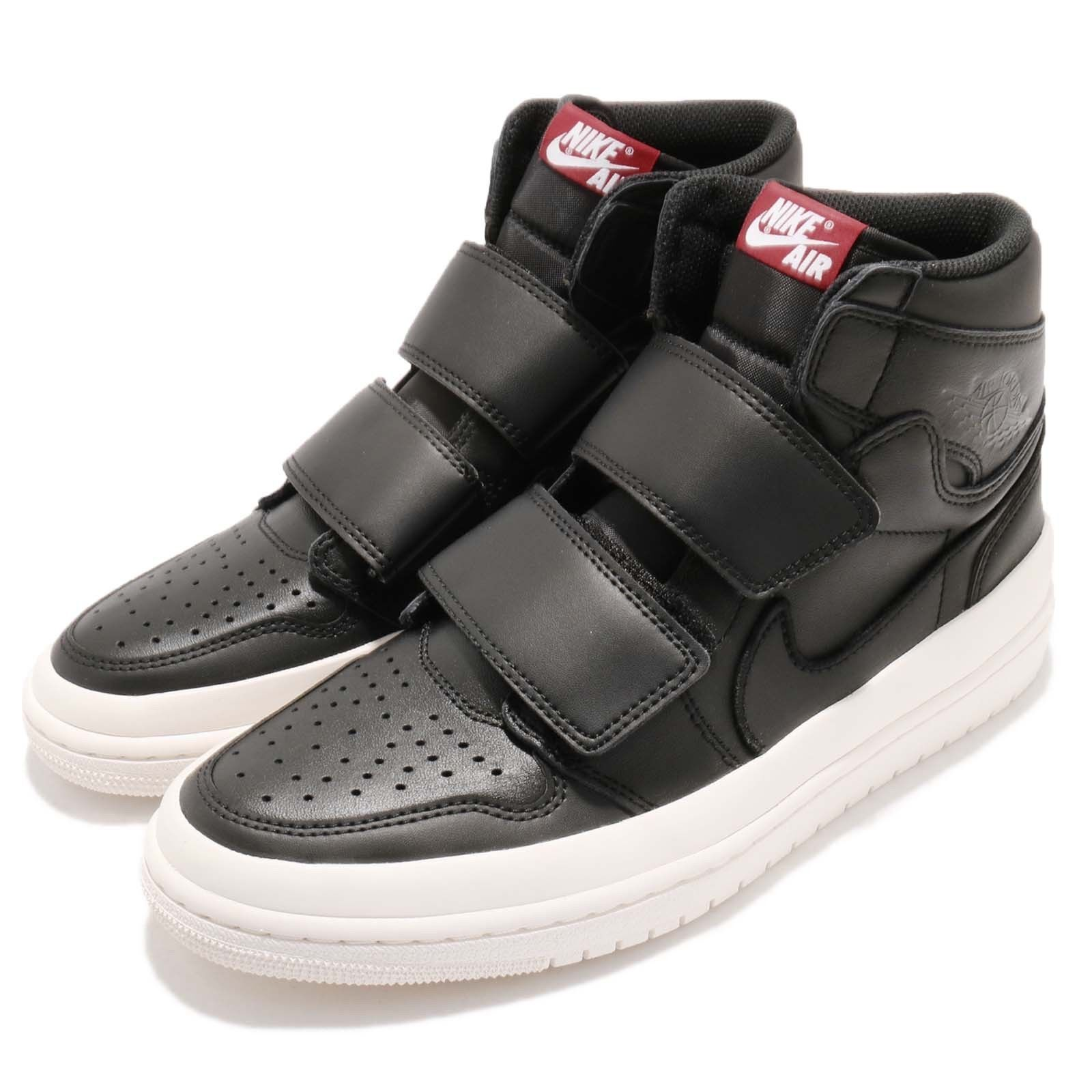 Nike Air Jordan 1 RE Hi Double STRP Strap I AJ1 Black Men shoes AQ7924-001 Size 8