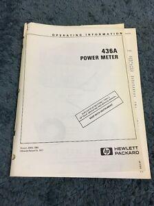 Hewlett packard hp 436a power meter manual ebay image is loading hewlett packard hp 436a power meter manual freerunsca Choice Image