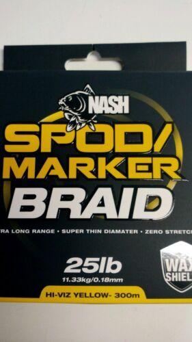 NASH SPOD//MARKER BRAID HI-VIZ YELLOW 300M