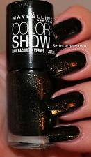 NEW! Maybelline Color Show Nail Polish in TWILIGHT RAYS #240 Black + gold flakes