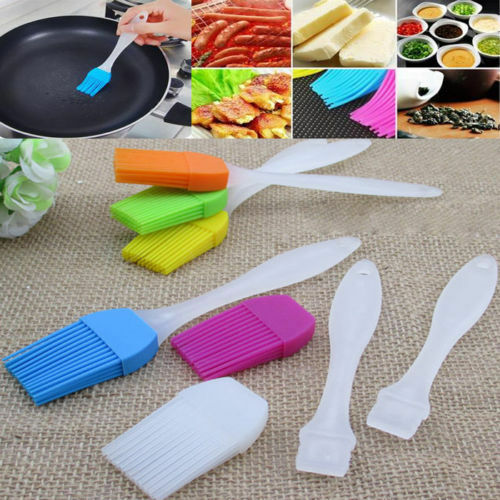 4pcs Baking BBQ Basting Brush  Pastry Bread Oil Cream Cooking Silicone g
