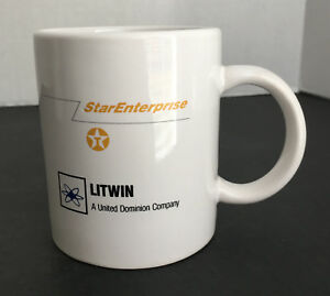 Details about Texaco Litwin Oil and Gas Construction Coffee Cup Advertising  Louisiana Plant