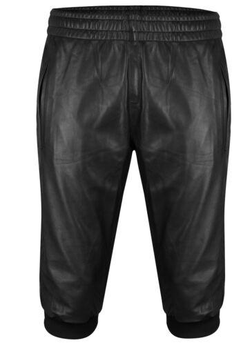 pelle in in in pelle Pantaloncini neri neri Pantaloni casual Pantaloni pelle Pantaloni Pantaloncini vqOAawwF
