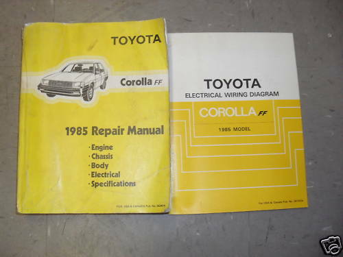 Diagram  1995 Toyota Corolla Service Repair Shop Set Oem Service And The Electrical Wiring