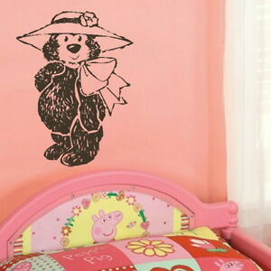ASCOT HAT TEDDY Nursery wall sticker  rub on vinyl transfer new nin29 - <span itemprop=availableAtOrFrom>Tamworth, Staffordshire, United Kingdom</span> - You Are welcome to return an order within 14 days if you are unhappy for any reason, should the return be due to an error by us we will pay return postage otherwise the bu - Tamworth, Staffordshire, United Kingdom