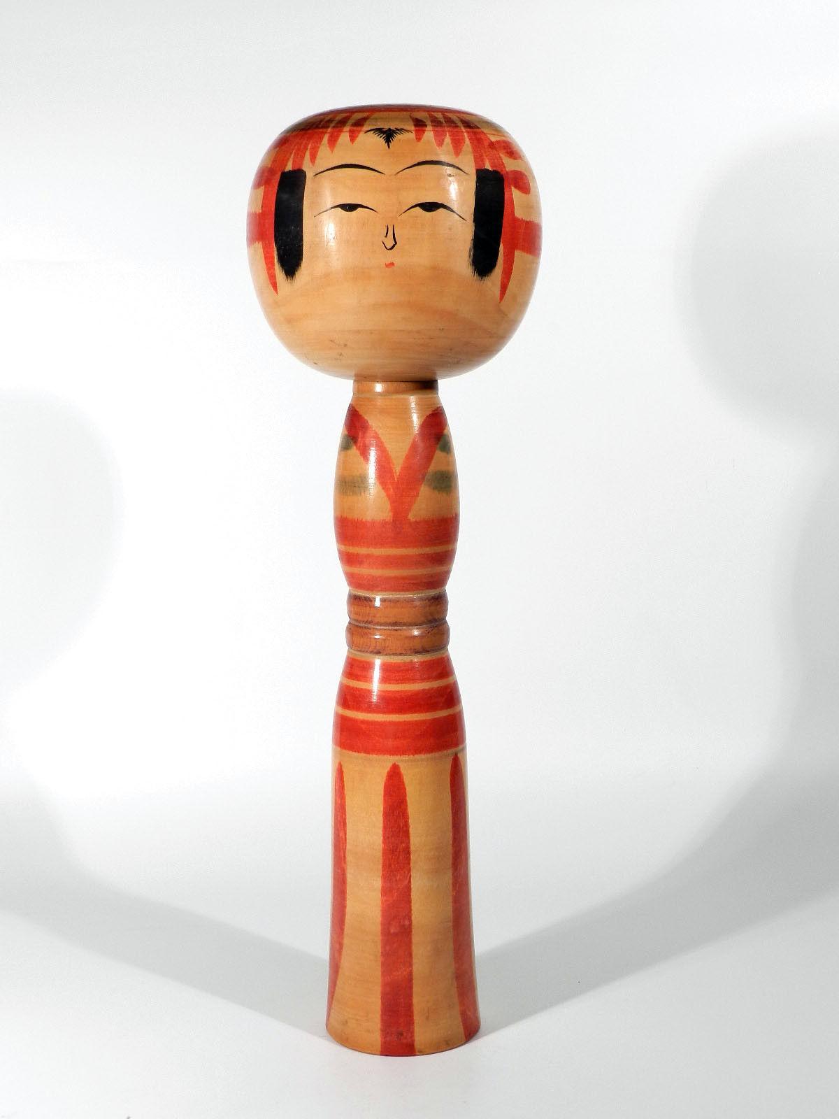 Vintage japón kokeshi madera muñeca °° autografiada única °° Wooden Japanese Doll