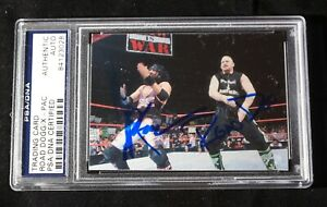 ROAD-DOGG-amp-XPAC-Signed-WWE-WWF-Smack-Down-Wrestling-Card-9-PSA-DNA-Slabbed