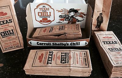 Original Carroll Shelby Texas Chili brown paper bag only MT Neat trivia One bag!