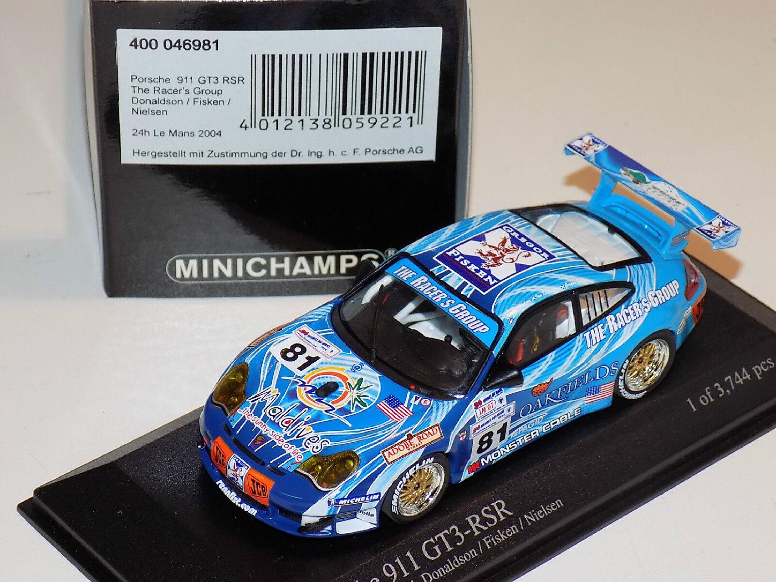 1 43 MINICHAMPS PORSCHE 911 GT3 RSR  81 24 H LE MANS 2004 Racer's Group
