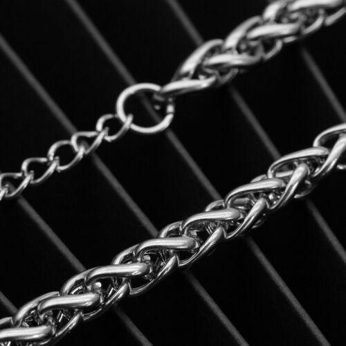 5 cm Armband Rund Edelstahl Zopfkette Damen Herren Armkette 18 3-8 mm