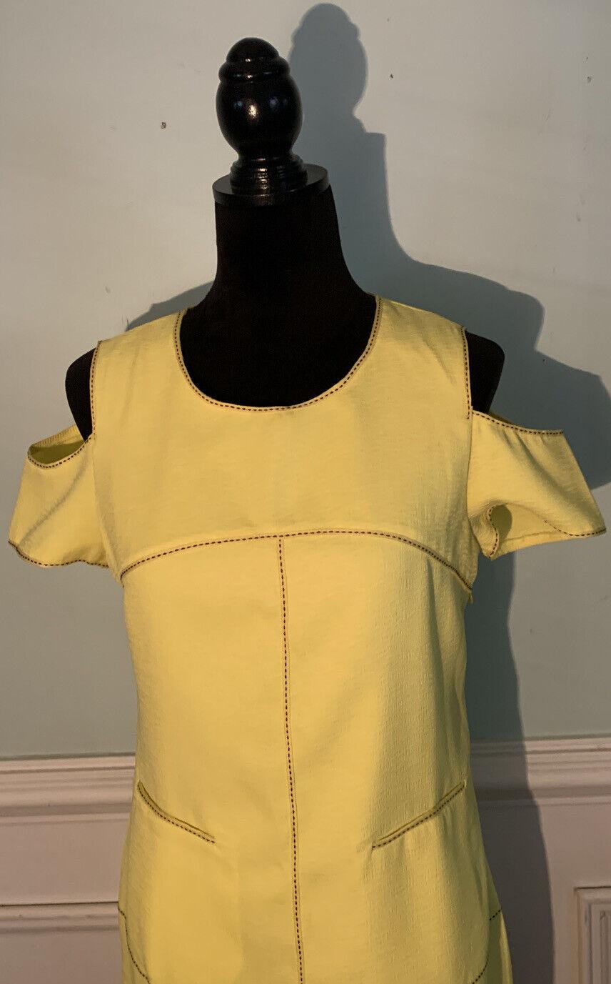 Esley bright yellow cold shoulder dress size medi… - image 2