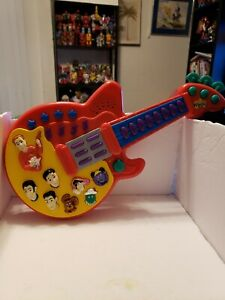 2003 Spin Master The Wiggles Musical Red Guitar Songs Sounds