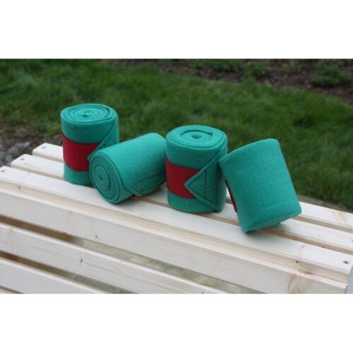 Bandes de polo verte velcro rouge  261