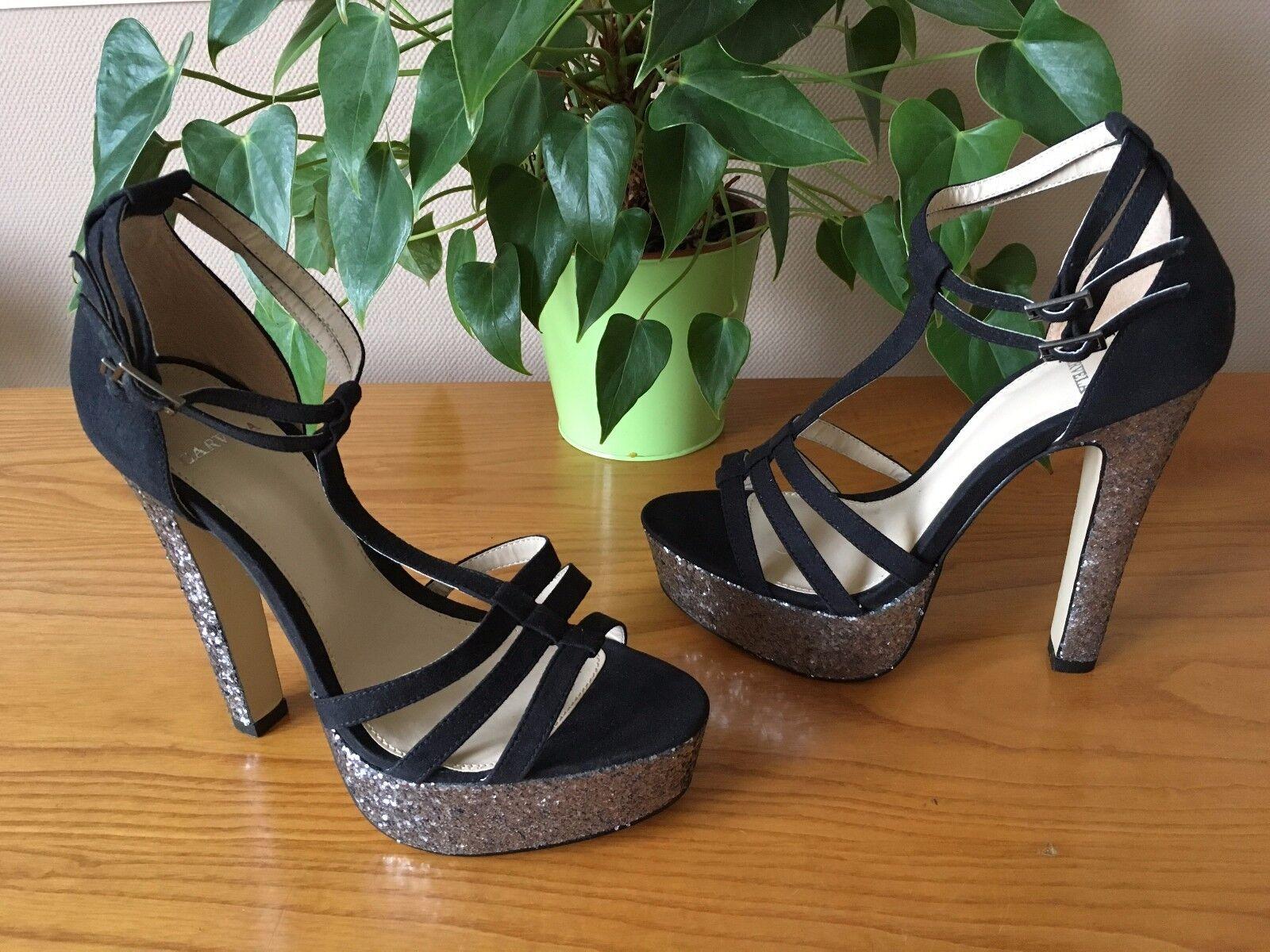 Ladies Carvela Kurt Geiger Lara black platform court shoe UK 5 EU 38 New