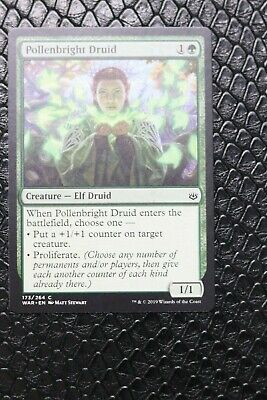 FOIL POLLENBRIGHT DRUID X4 War Of The Spark WAR Magic MTG MINT CARD