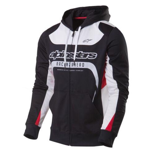Session hoodie rood Fleece met Zipped Hooded capuchon wit zwart Alpinestars dYHqvwPd