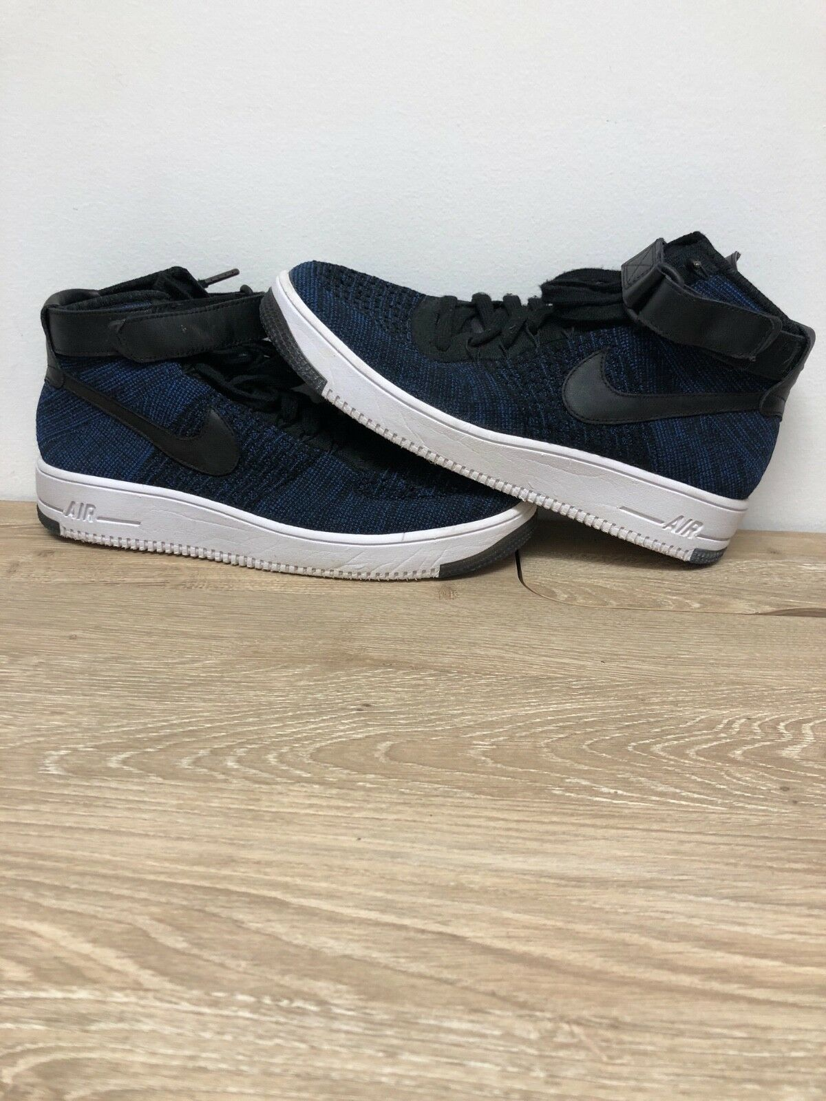 Nike Airforce 1 High Flynit bluee Size 10 Great Conditon