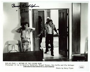 Beverly Randolph Autograph Signed 8x10 Photo -Return of the Living Dead(JSA COA)