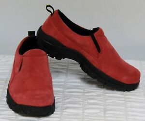 Red Suede Shoes Womens Sz 7