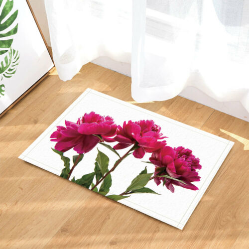 "Peony Flowers on White Background Bathroom Waterproof Fabric Shower Curtain 71/"""