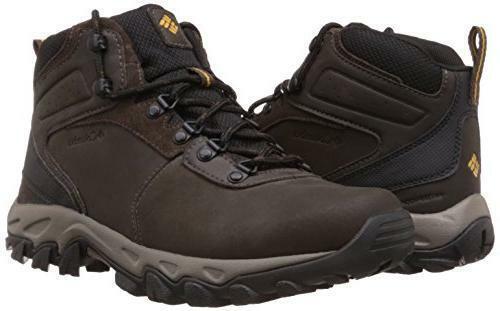 31c5eaf8052 Columbia 4305 Mens Newton Ridge Plus II Brown Leather Hiking BOOTS Shoes 10  BHFO
