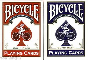 2-Decks-Bicycle-CUPID-red-blue-gold-Playing-Cards-poker