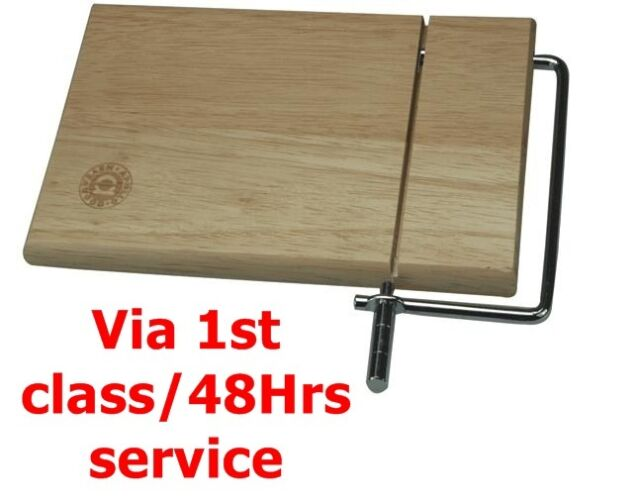 Wooden Cheese Slice Board with Wired Slicer Ideal For Soft Cheese