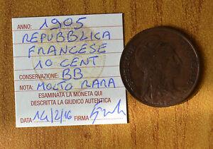 REPUBBLICA-FRANCESE-10-CENT-1905-MOLTO-RARA-sigillata-BB-NUMISMATICA-SUBALPINA