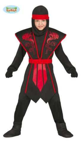 Élégant Ninja Costume Enfants Rouge Noir avec joli armure pour garçons