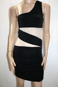 elly-m-Brand-Black-Nude-Mesh-Lace-Insert-Bodycon-Dress-Size-8-BNWT-SZ59