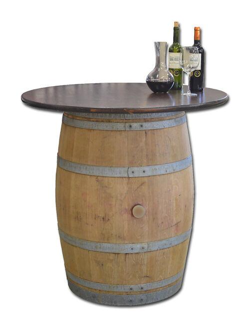 Wooden Barrel Bistro Table Bar Garden Furniture Wine Barrel Cellar D