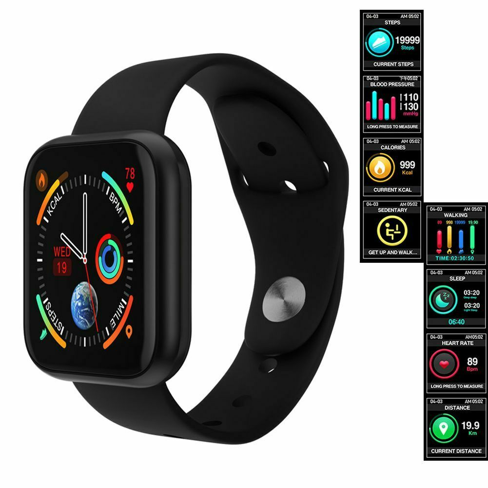 Smart Watch Fitness Tracker Heart Rate Sleep Monitor for Samsung S20 S10 S9 Plus fitness for heart monitor rate samsung sleep smart tracker watch