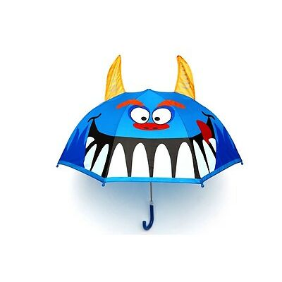 NEW Monster Design Childrens Boys Kids Umbrella Pop Up Horns